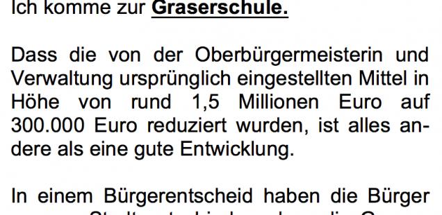 Die Haushaltsrede von Stephan Müller