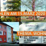WAHLEN AM 15. MÄRZ 2020 - THEMA WOHNEN