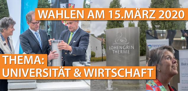WAHLEN AM 15. MÄRZ 2020 - THEMA: UNIVERSITÄT & WIRTSCHAFT